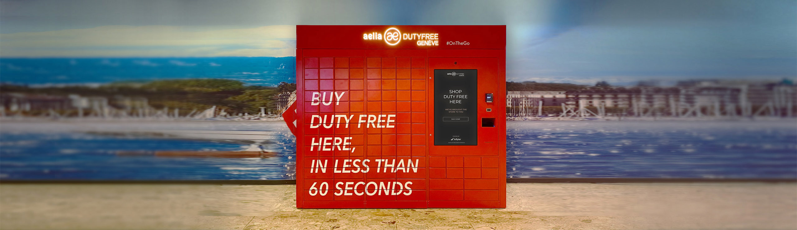 Inflyter launches world's first digital duty free vending machine with Lagardère Travel  Retail Switzerland.